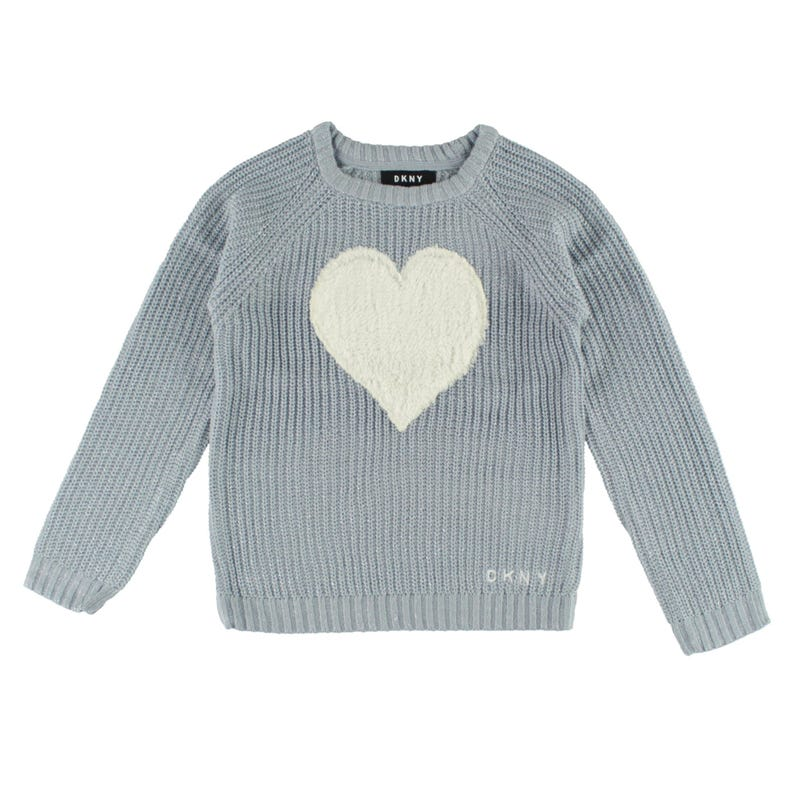 Faux Fur Heart Sweater 4-6y