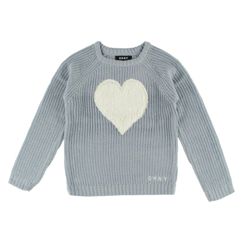 Faux Fur Heart Sweater 7-16y