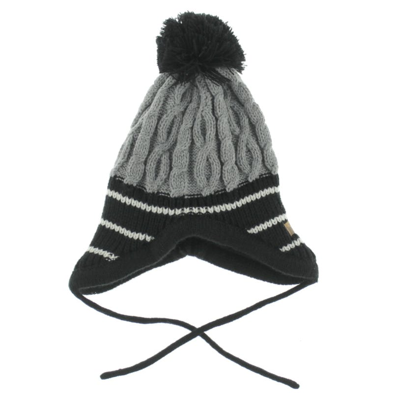 Tuque Pompon Cable Rayee 6-9m