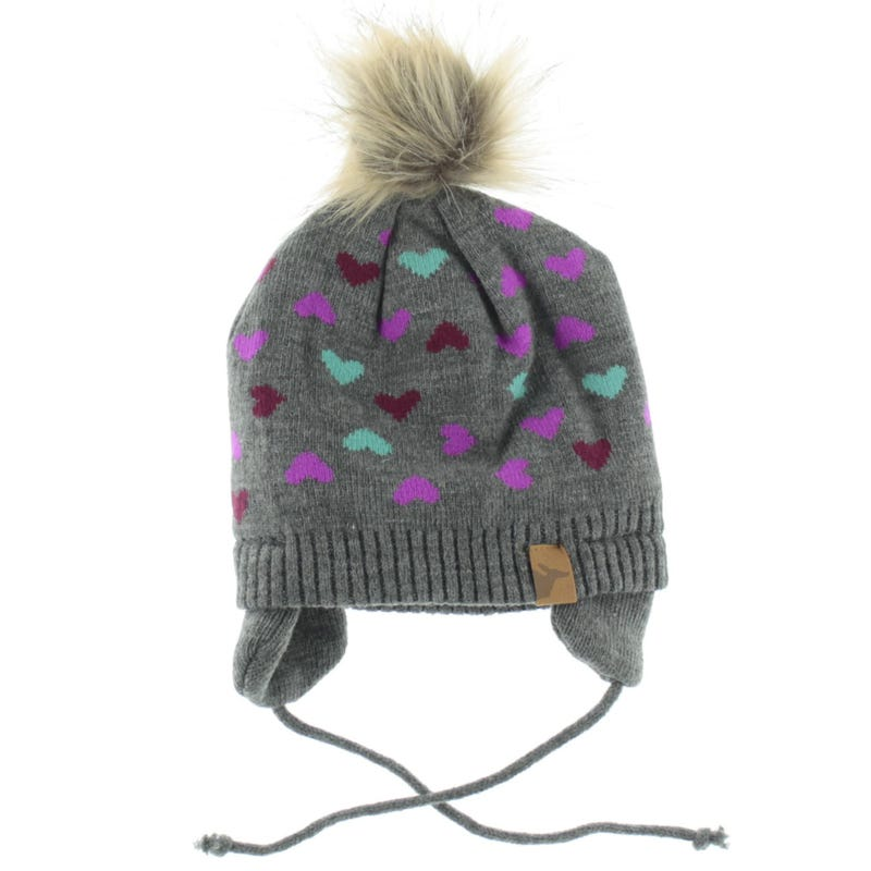 Tuque Tricot Coeurs 6-9mois