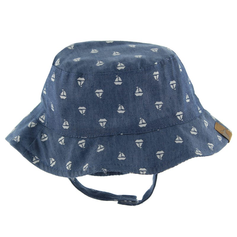 Sailboat Print Bucket Hat 3-24m