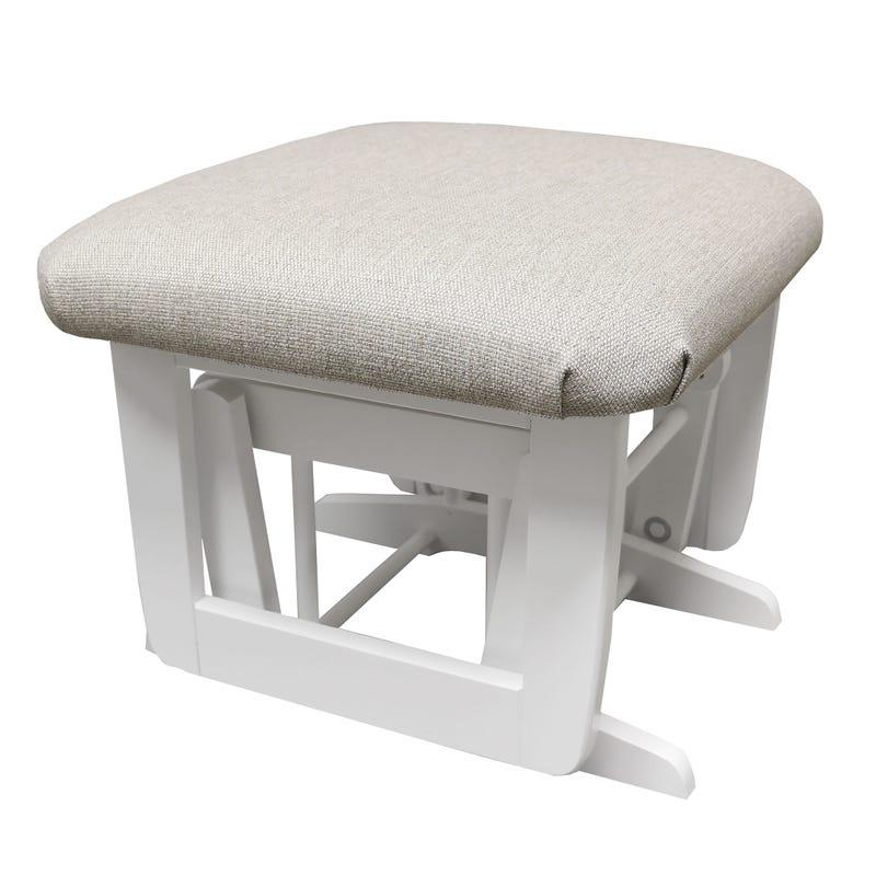 Stool - White and Fabric #5312