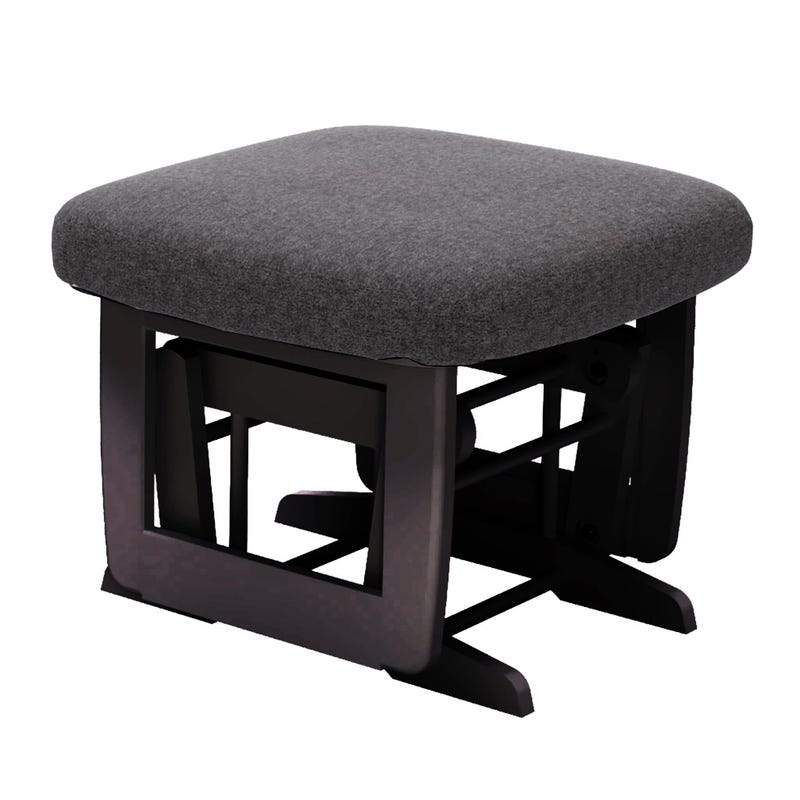 Superior / Erie Stool - Expresso and Fabric #3128