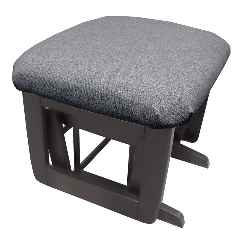 Superior / Erie Stool - Color Charcoal Grey #86 and Fabric #5299