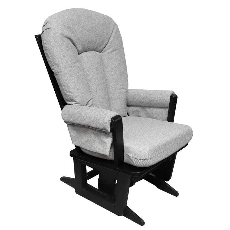 Exclusive Rocking Chair - Black Wood / Grey Fabric #5310