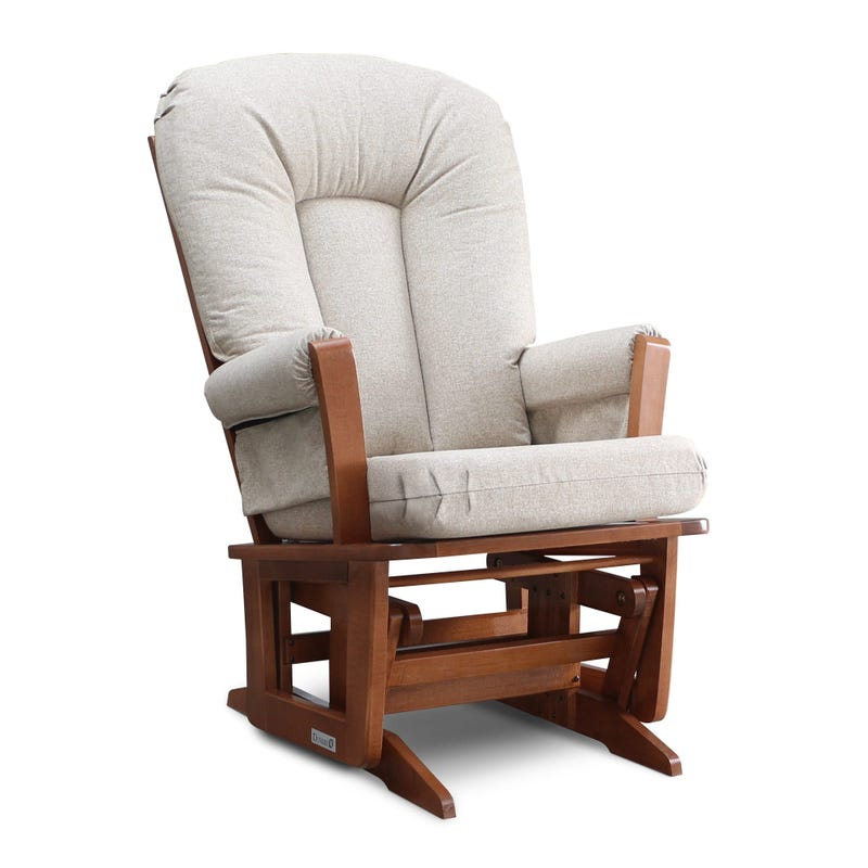 Rocking Chair - Harvest Wood And Beige Fabric #5286