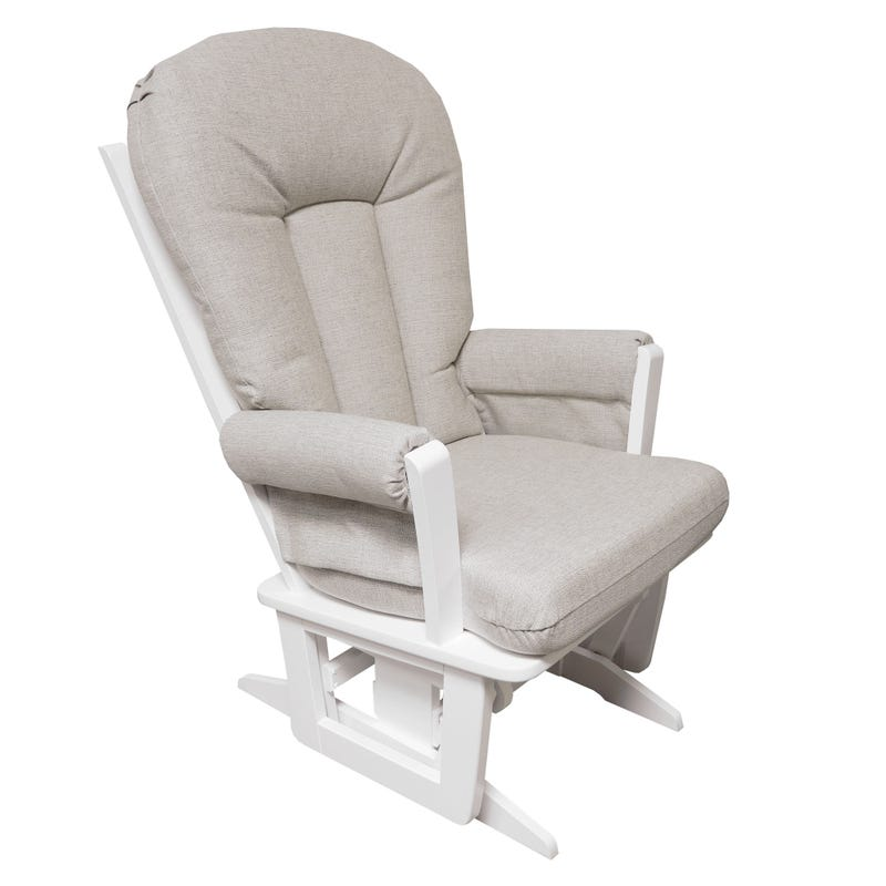 Exclusive Rocking Chair - White Wood / Beige Fabric #5312