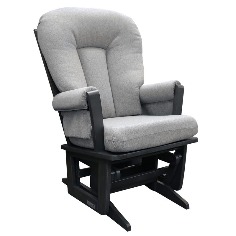 Rocking Chair - Charcoal Woodd And Gray Fabric #5299