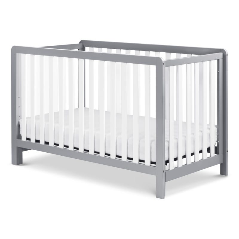 Colby 4-in-1 Convertible Crib - Grey / White