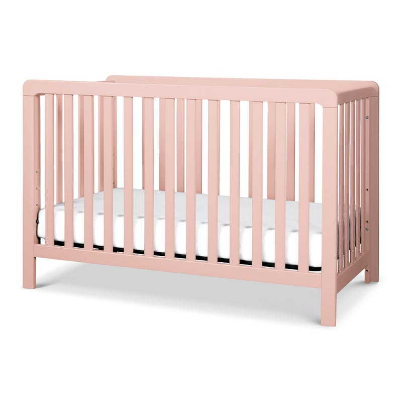 Colby 4-in-1 Convertible Crib - Petal Pink
