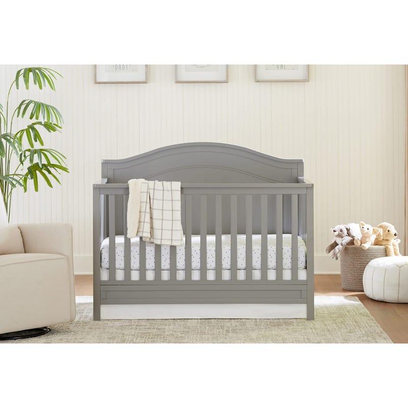 Charlie 4-in-1 Convertible Crib - Grey