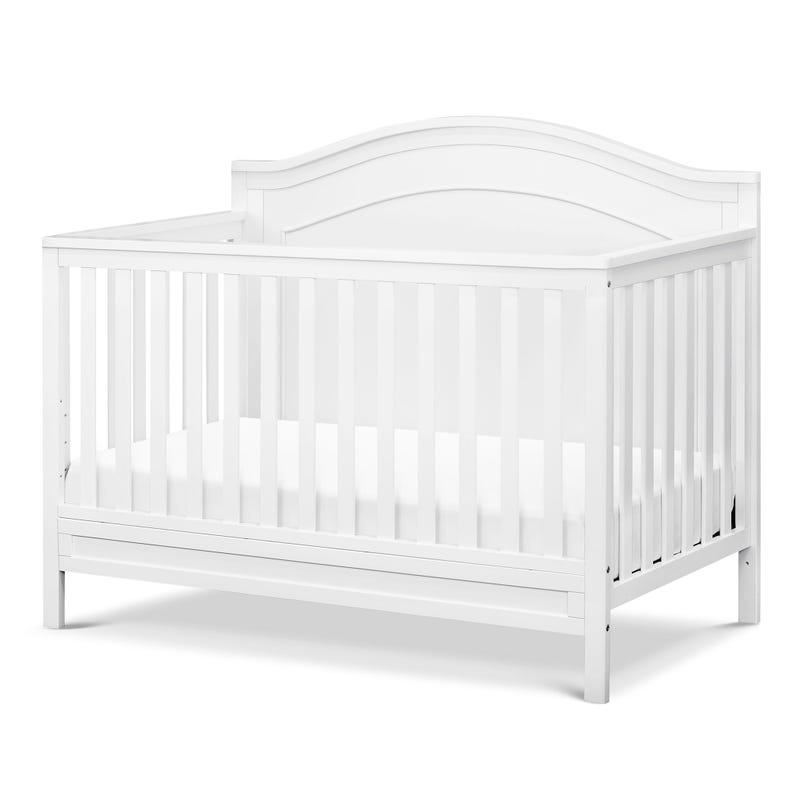 Charlie 4-in-1 Convertible Crib - White