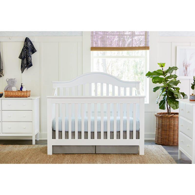 Jayden 4-in-1 Convertible Crib - White Finish