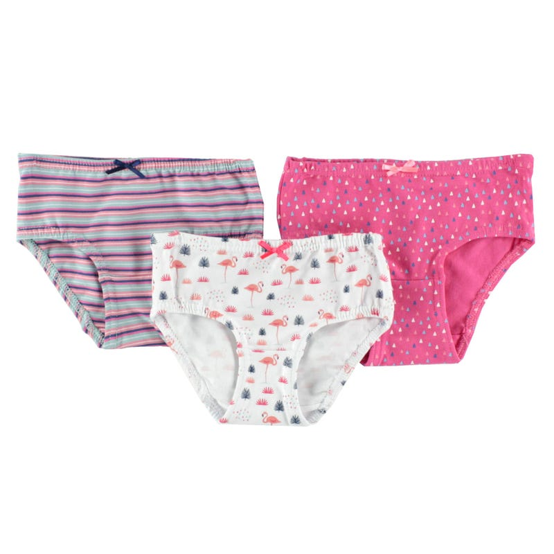 Flamingo Panties 2-12y - Set of 3