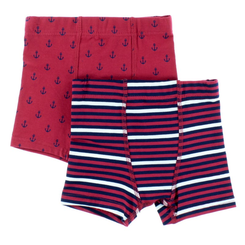 Anchor Striped Boxers 2-12y - Set of 2