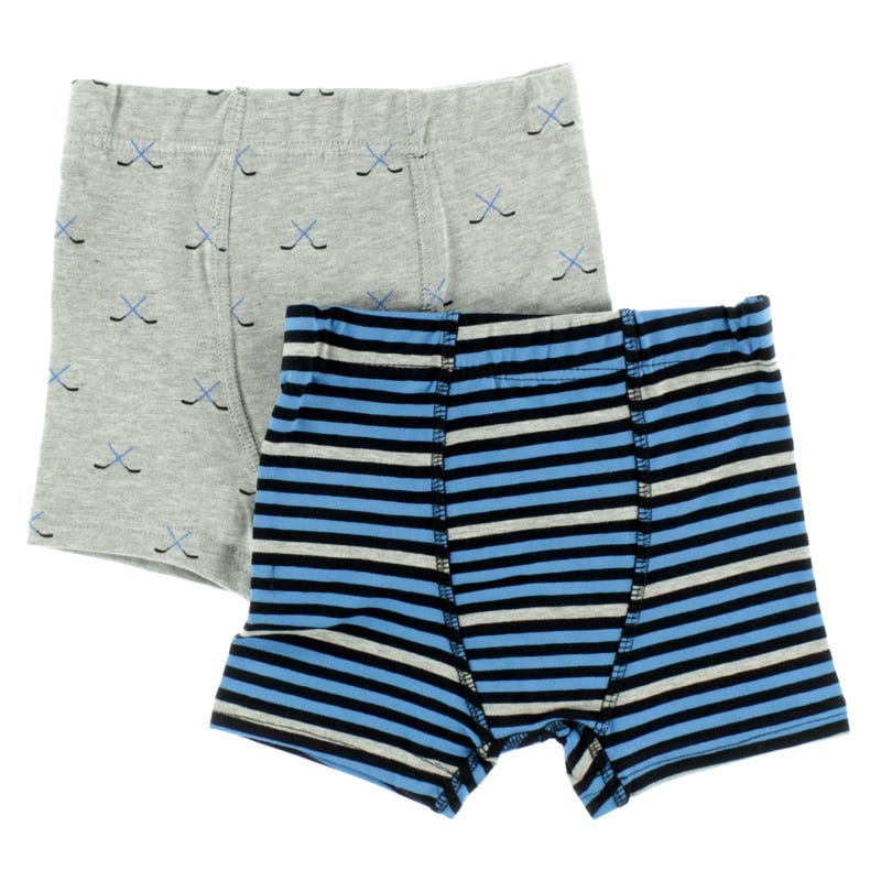 Hockey Striped Boxers 2-12y - Set of 2