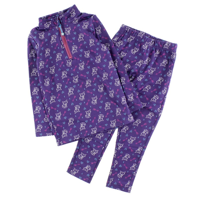 Girl 2 Pieces Thermal Underwear 2-14y