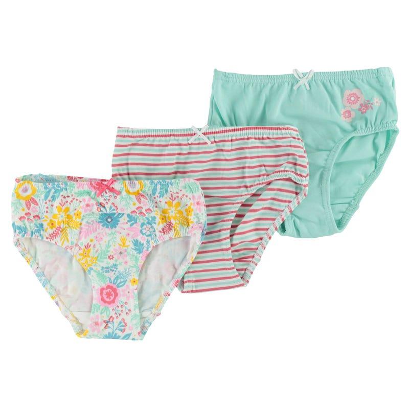 Flower Underwear 2-12y - Set of 3