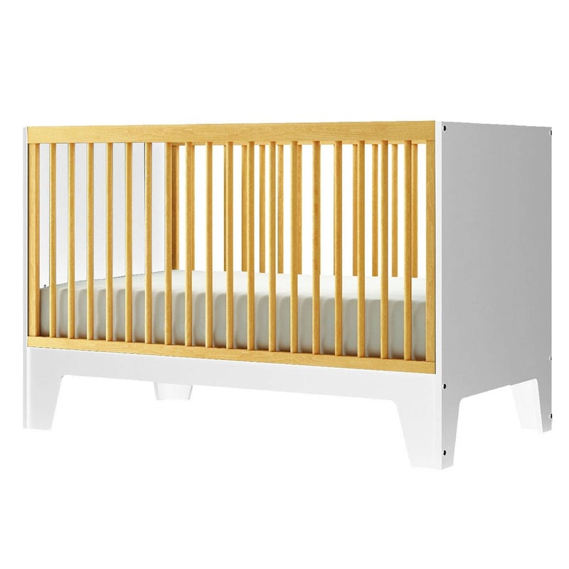 Crib Caramel - White/Natural