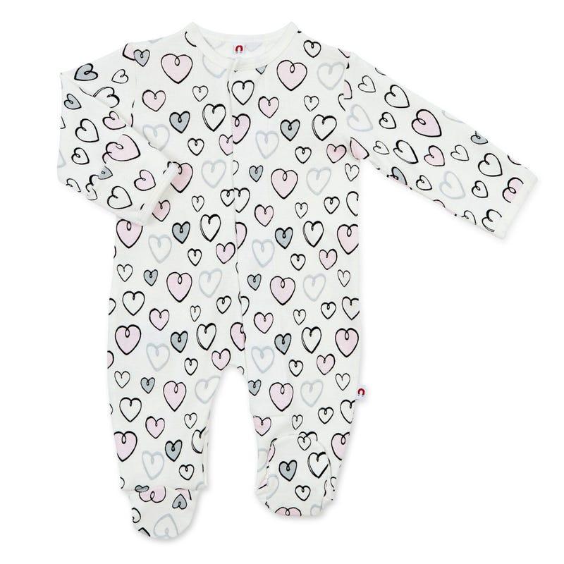 Pyjama Magnétique Coeurs 0-9mois