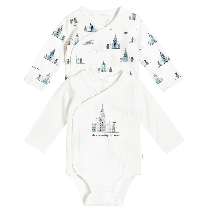 Empire State Bodysuits set (2) 0-12m