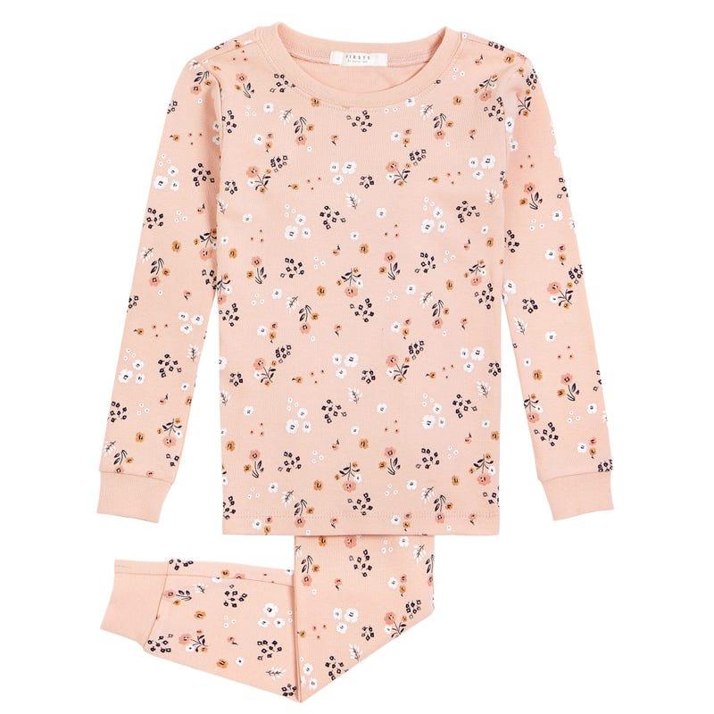 Pyjama 2 Pièces Fleurs 2-4ans