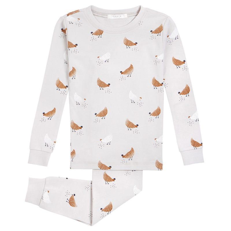 Pyjama 2 Pièces Poules 12-24mois