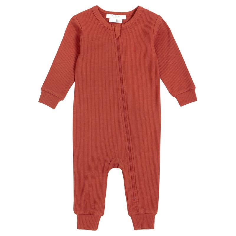 Brick Ribbed Pajamas 0-12m