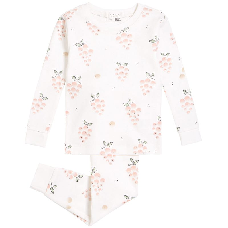 Pyjama 2 Pièces Rosé 12-24mois