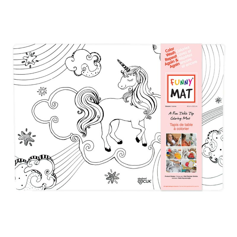 Coloring Mat - Unicorn