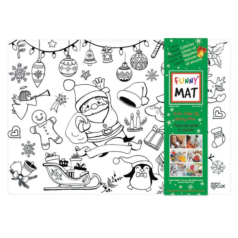 Coloring Mat Christmas