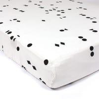 Polka Fitted Sheet - Black Seeds