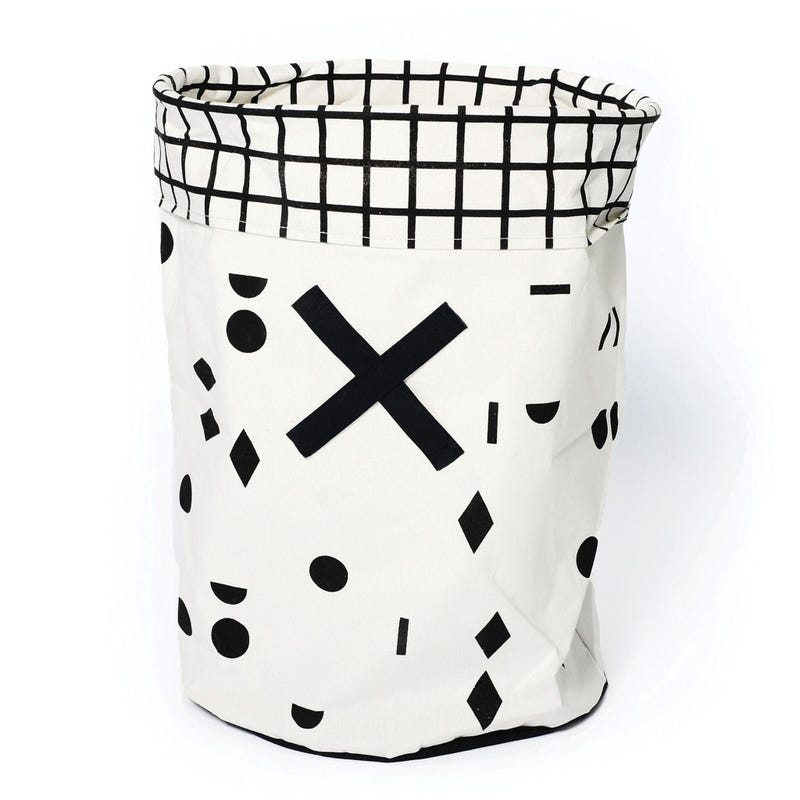 Olé Storage Basket -White/Black