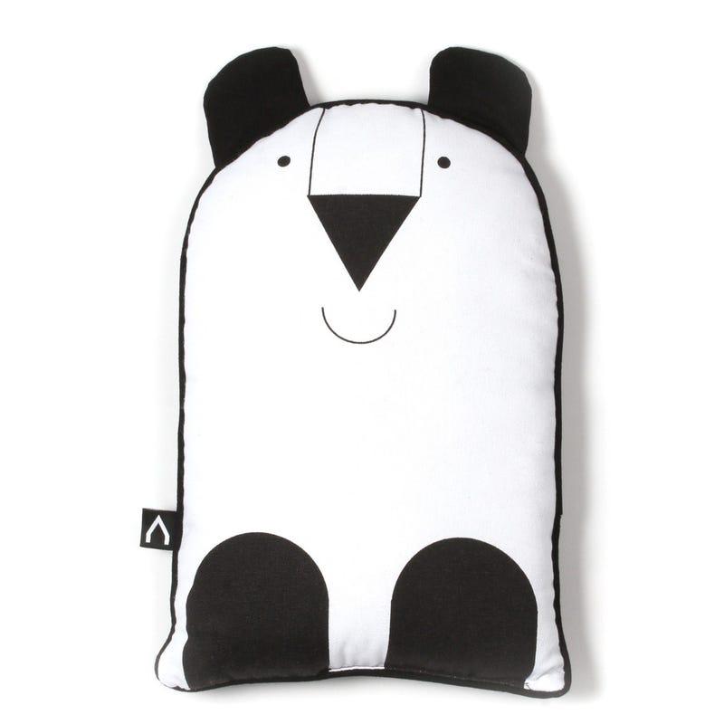 Coussin Panda Noir Blanc