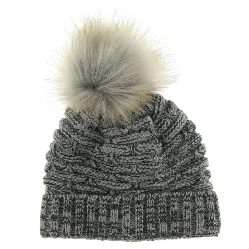 Pompom Knit Beanie 6-14y
