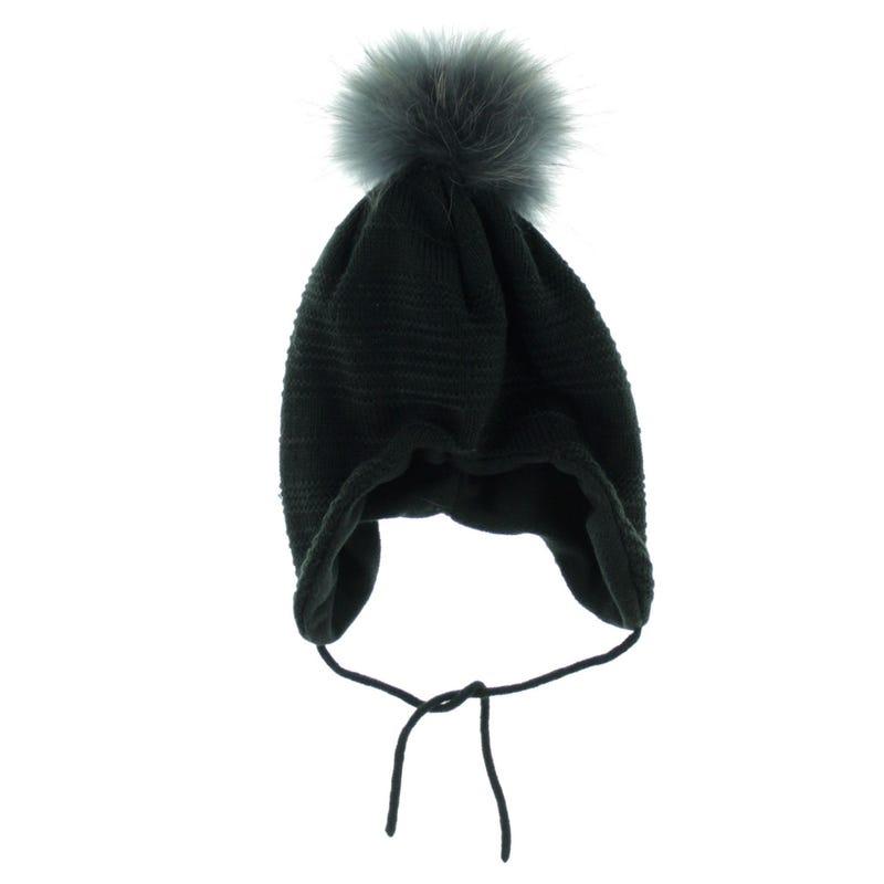 Fur Pompom Beanie 2-6y