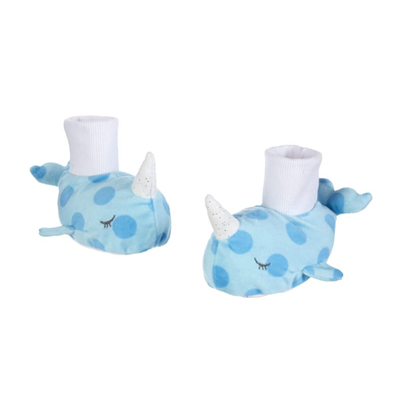 Narwhal Slippers - Blue