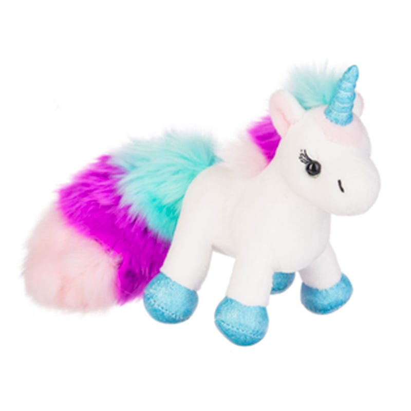 Unicorn Plush - White/Blue