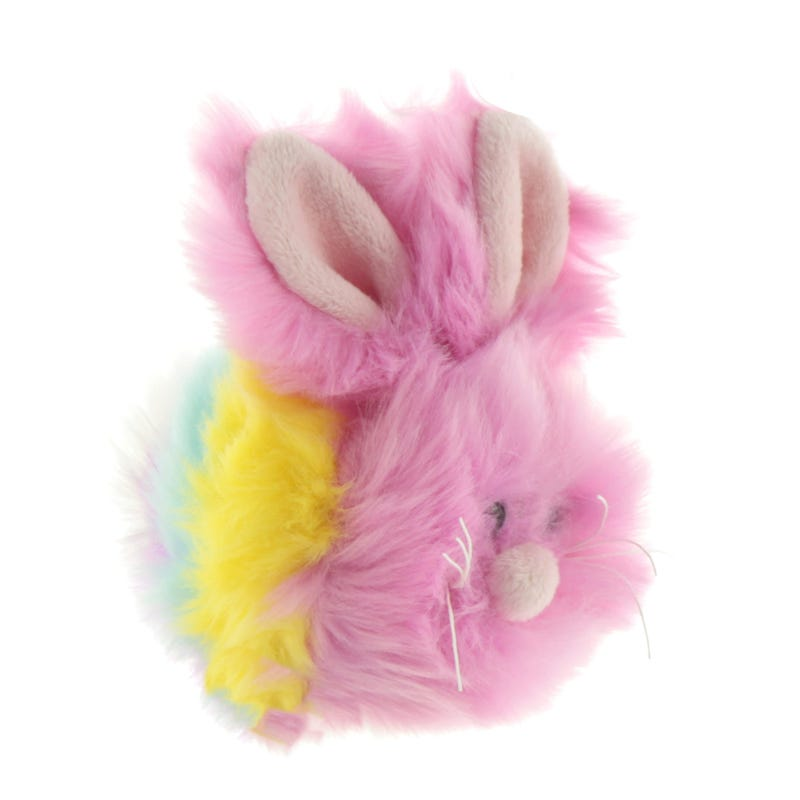 Peluche Lapin Rond - Rose