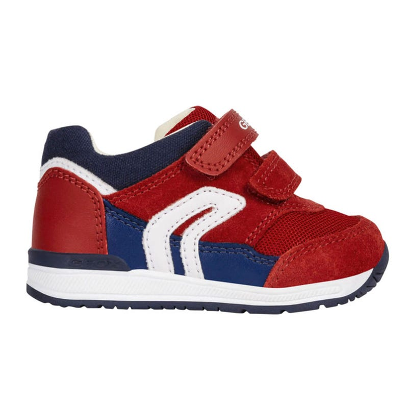 Rishon Shoes Sizes 18-25 - Red/Navy Suede