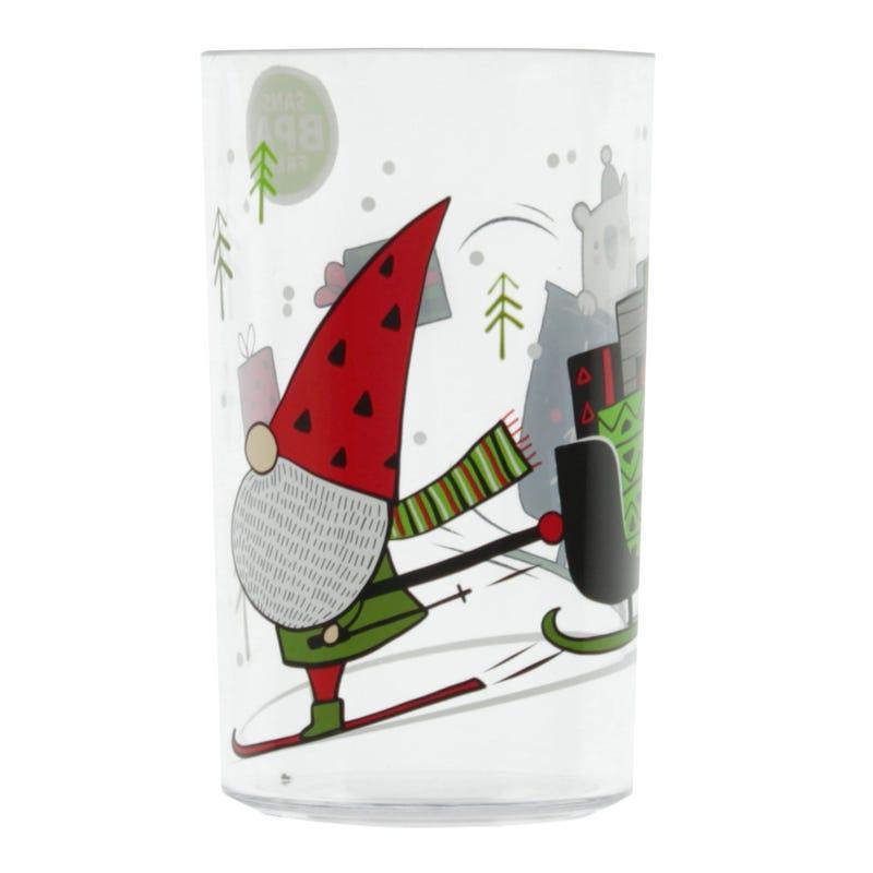 Christmas Elf Glass