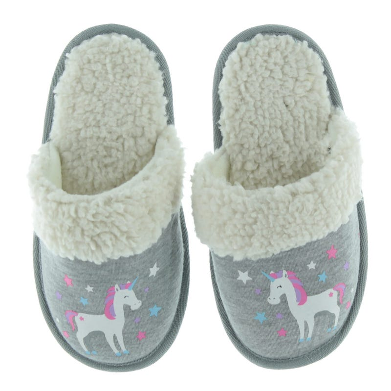 Unicorn Sherpa Slippers Sizes 9-5
