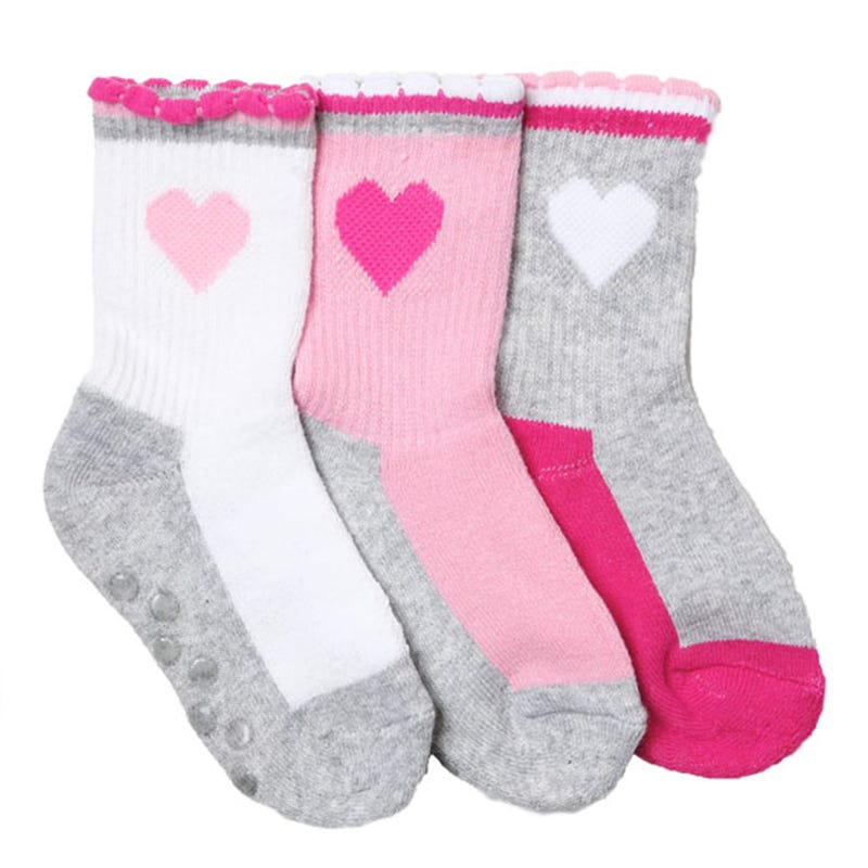 Heart Socks 12-24m - Set of 3