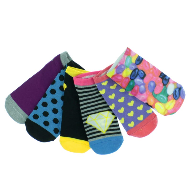 Candy Socks Size 5-7 - Set of 6