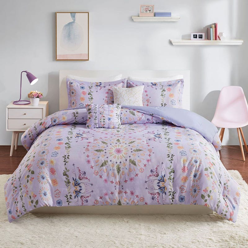 Double / Queen Comforter Set -Navi Printed