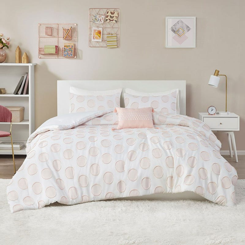 Double / Queen Comforter Set - Jennifer Clipped Jacquard