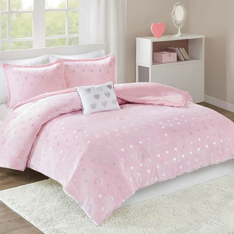 Rosalie Twin Metallic Comforter Set