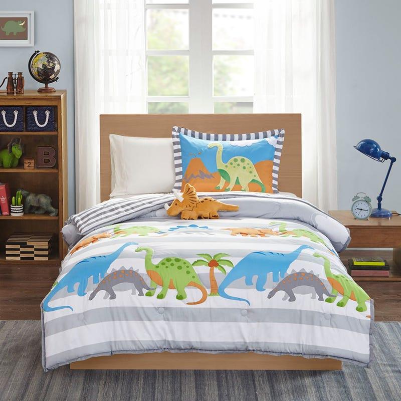 Douillette 3 Morceaux Lit Simple - Dinosaures