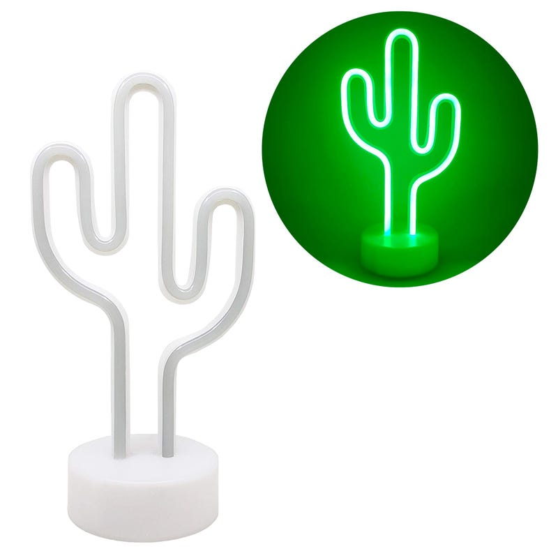 Neon Lamp Night Light Cactus