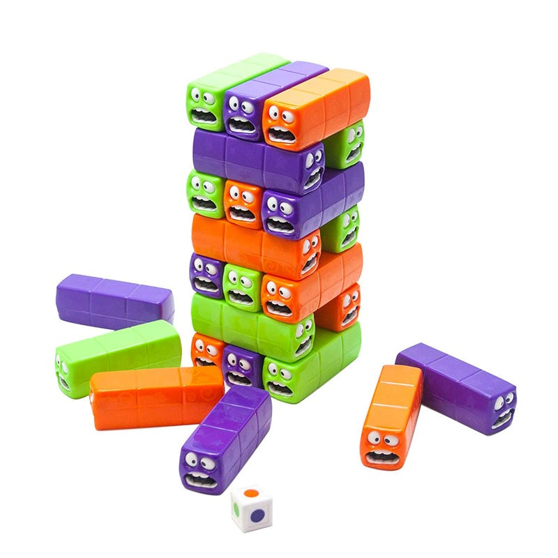 Wiggly Worms Tower Balancing Game